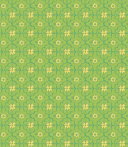 26362 H Green Quatrefoil  All a Flutter