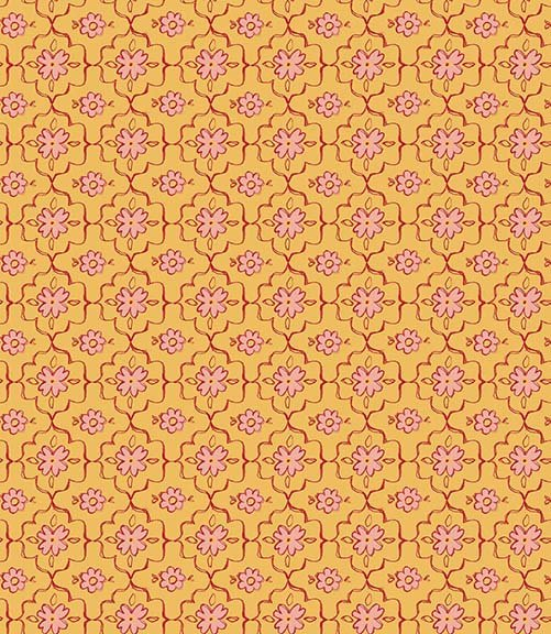 26362 S Yellow  Quatrefoil  All a Flutter