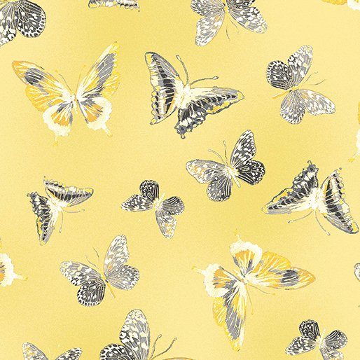 7737P 33 Butterflies Yellow Limoncello