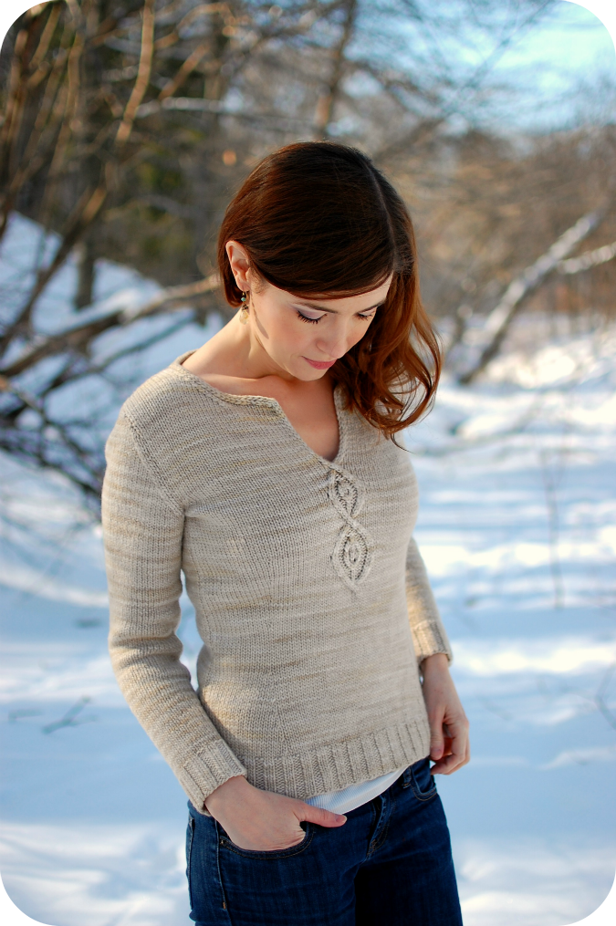 Cabled Leaf Pullover Pattern
