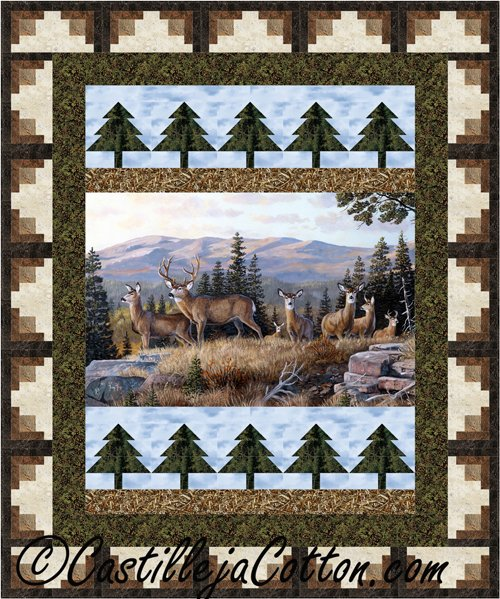 High Ridge Crossing Pattern/Log Cabin Tree Panel