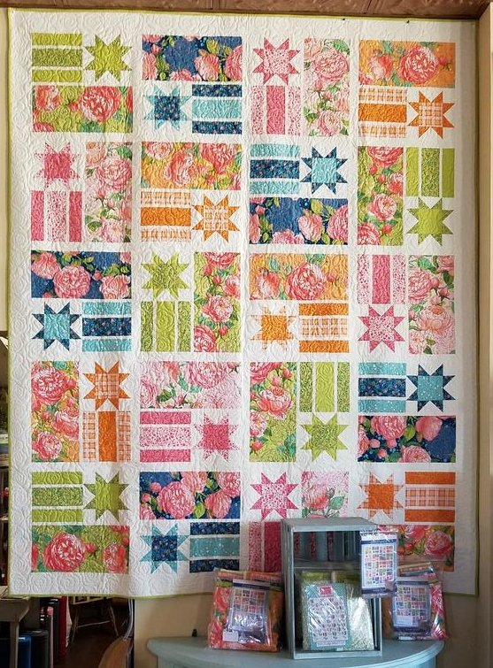 Constance-Abby Rose Twin Size Quilt Kit