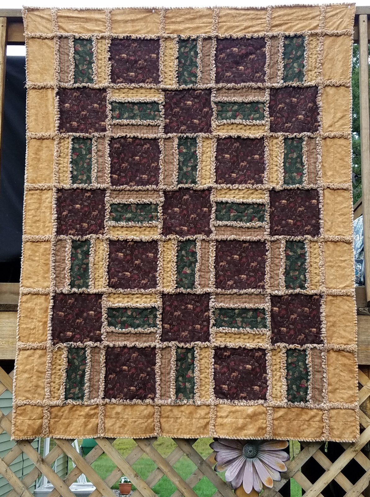 Return to Cub Lake Flannel Rag Quilt Kit