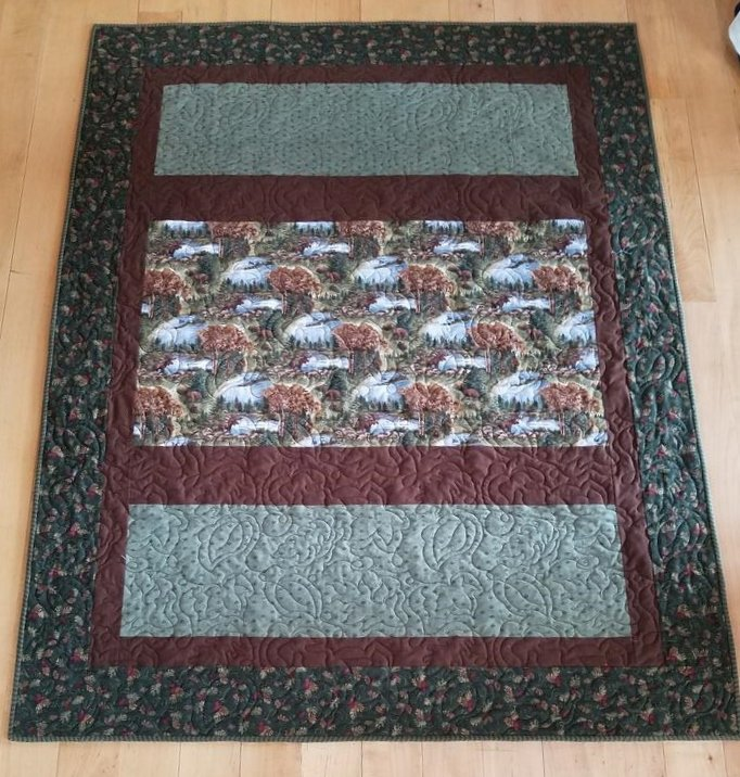 Return to Cub Lake Fast Four Flannel Quilt- Sample Only
