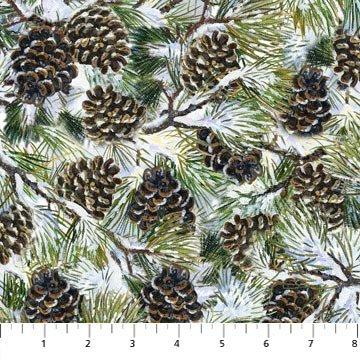 DP22247 12 Winter Chickadee Pine Tree Branchs