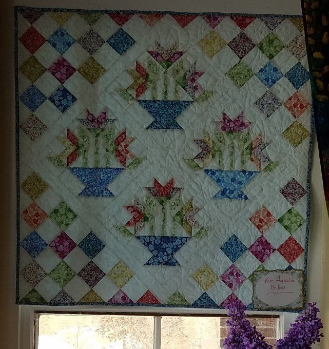 Flower Baskets Wall Quilt kit/Garden Delights BOOK INCLUDED
