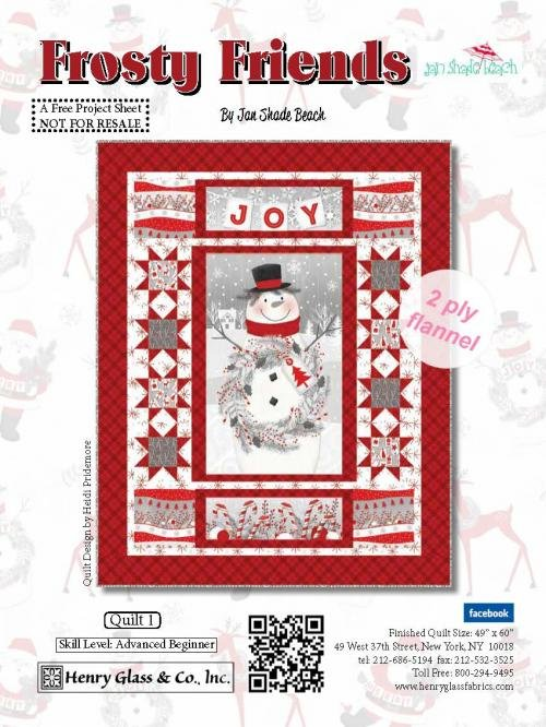 Quilt #1 Frosty Friends Panel Flannel Quilt Kit