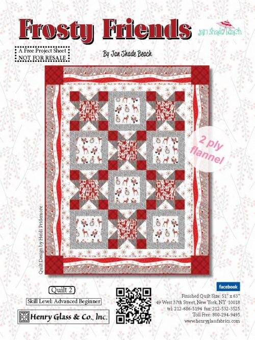 Quilt #2 Frosty Friends Flannel Quilt Kit
