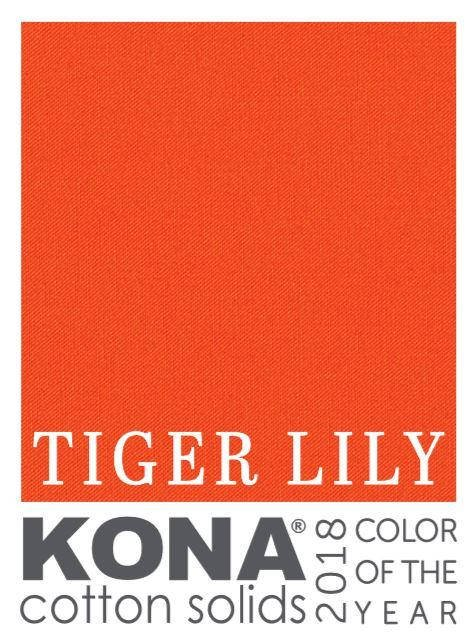 Tiger Lily Kona Cotton Solid