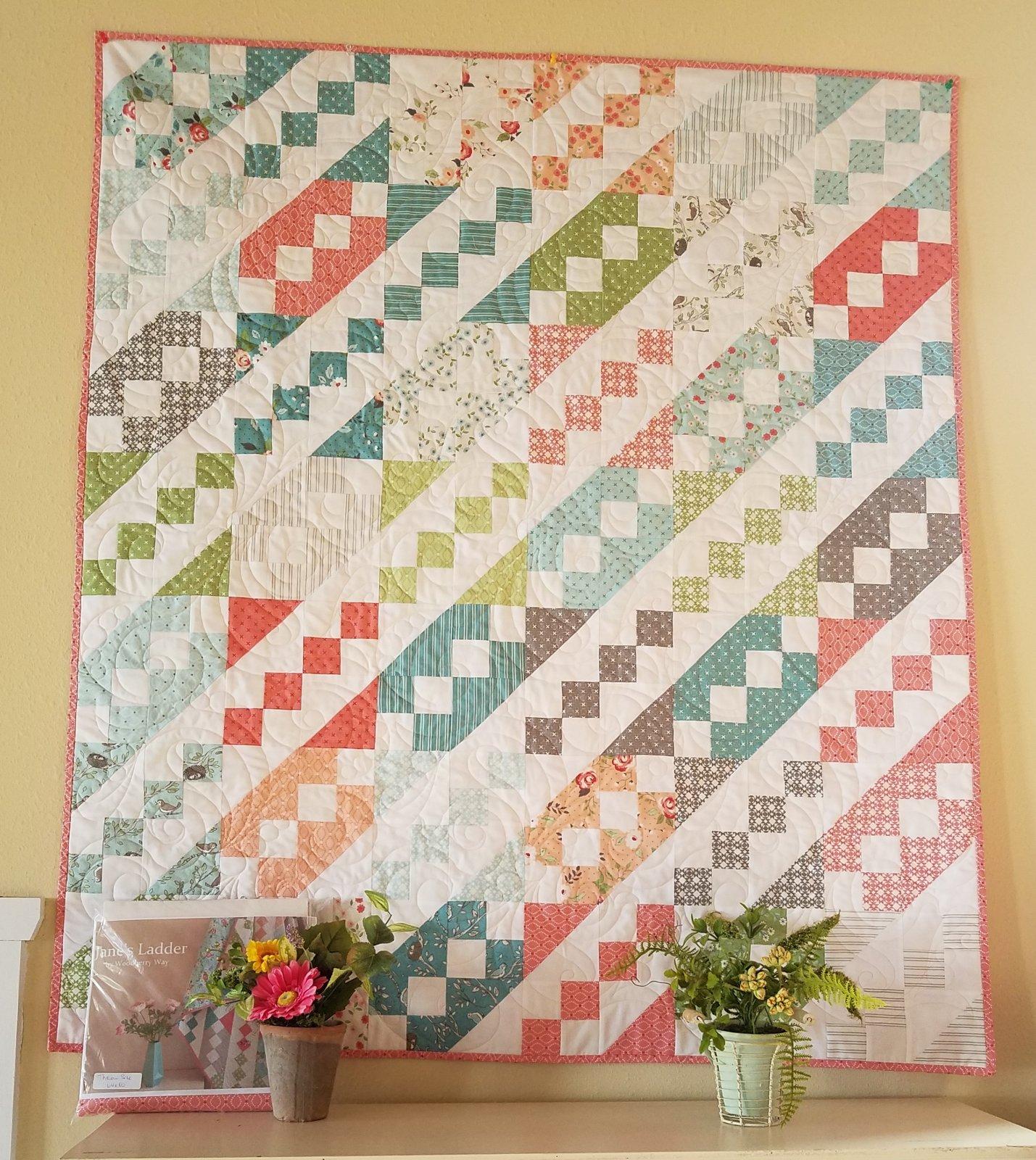 Janes Ladder/Nest throw size quilt kit 64x80