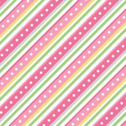 Pink Diagonal stripe Little One Flannel Too