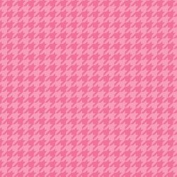 Pink HoundstoothLittle One Flannel Too