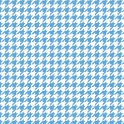 BLUE Houndstooth Little One Flannel Too