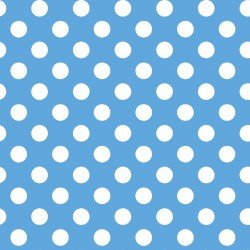 BLUE/White Dots Little One Flannel Too