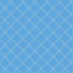BLUE Lattice Little One Flannel Too