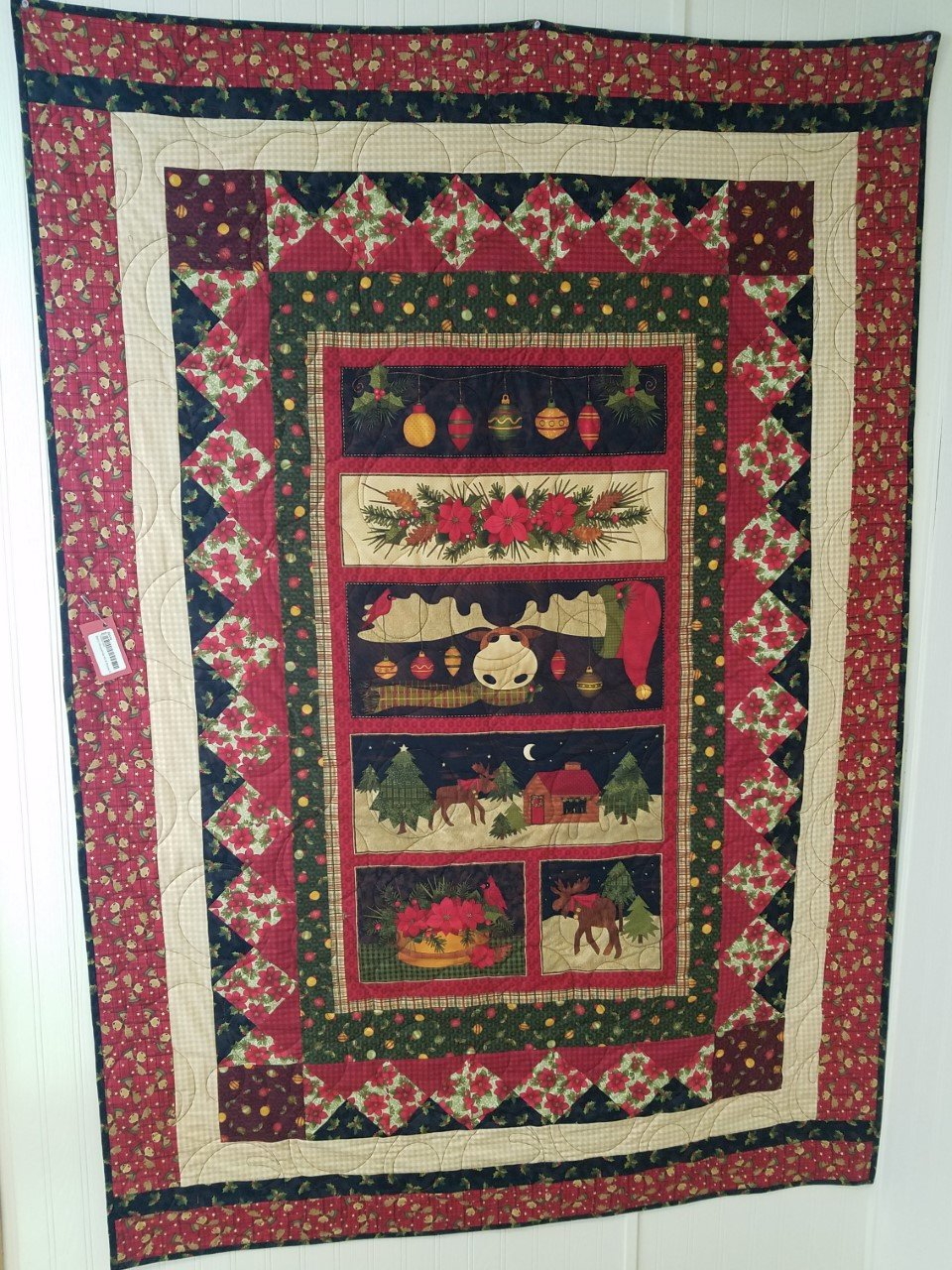 Merry Moosemas Kit-A Moose for Christmas -COMPLETELY FINISHED SAMPLE