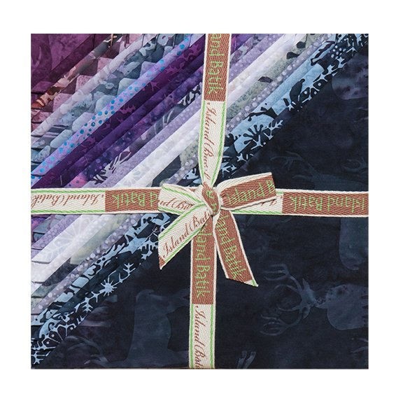Snow berry  10 square Stack Pack Island Batiks