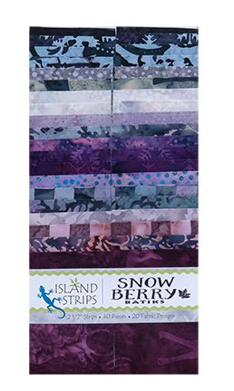 Snow berry 2.5 Strip Pack Island Batiks