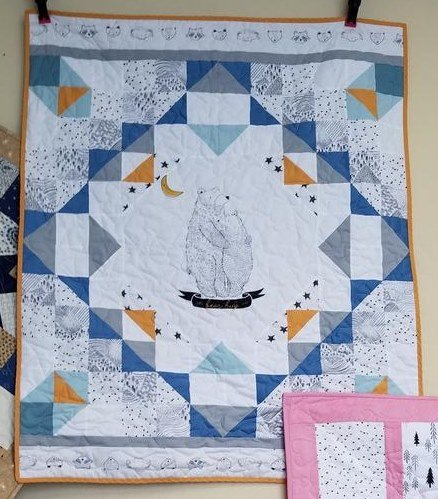 PIne Lullaby Blue Snuggle Quilt Kit