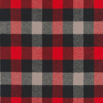 SRKF-16422-3 RED Plaid Mammoth Flannel