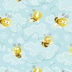 Aqua Clouds & Bees FROGLAND FRIENDS