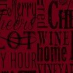 1132-85 Words on Red Vintage