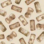1136-40 Wine Corks on Cream Vintage