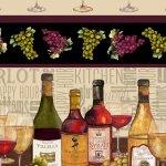1137-49 Wine Bottles With Border Vintage