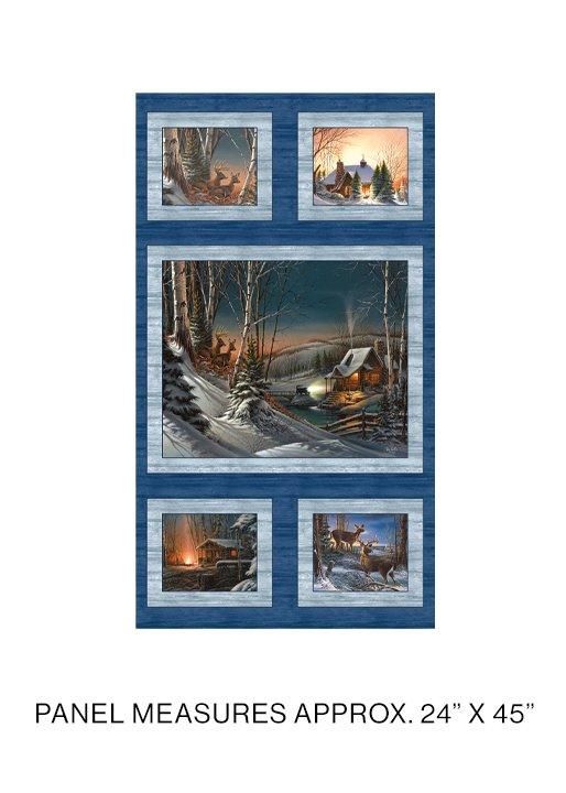 Winter Season Panel Blue/Multi