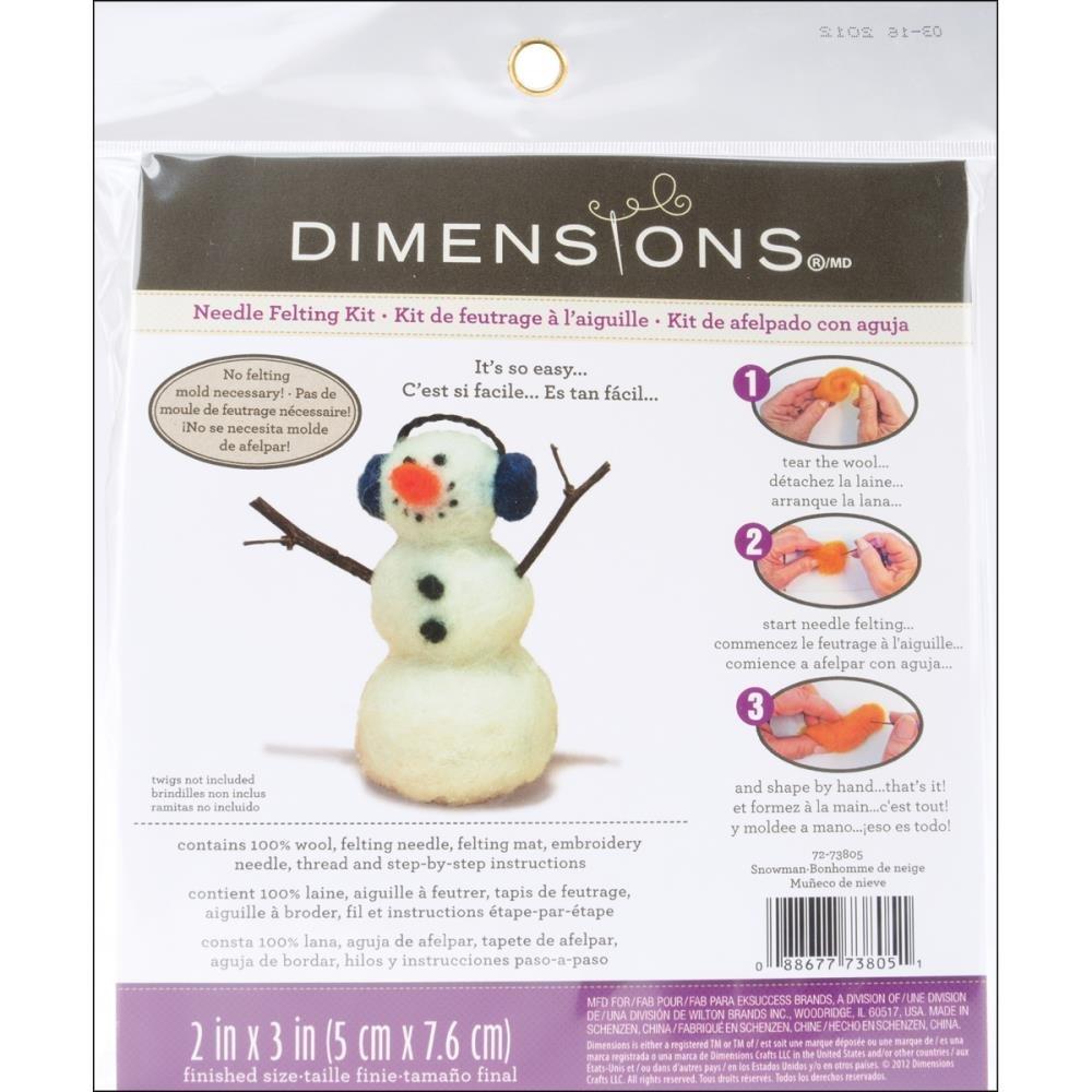 Feltworks Snowman Needlefelting Kit