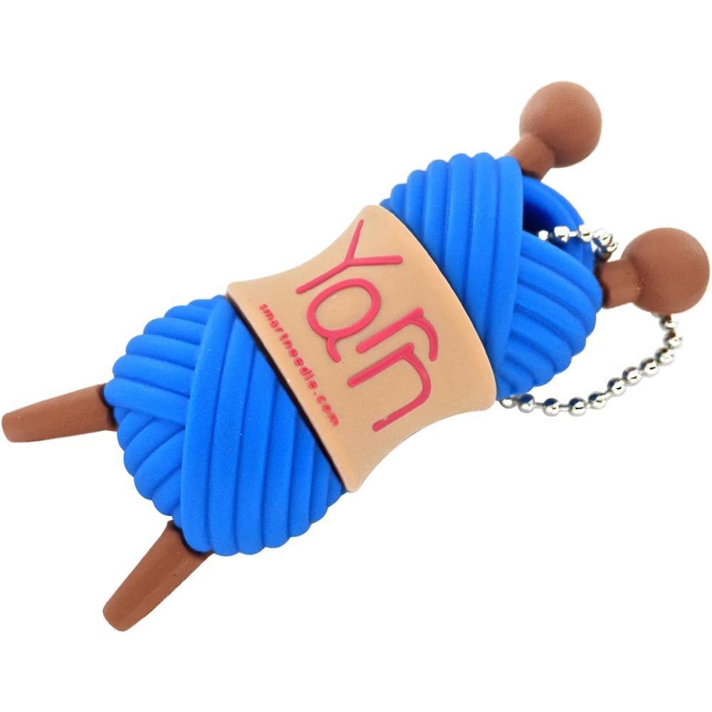 2GB Blue Yarn USB Drive