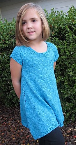 Knitting Pure & Simple 1502 Girl's Trapeze Tunic