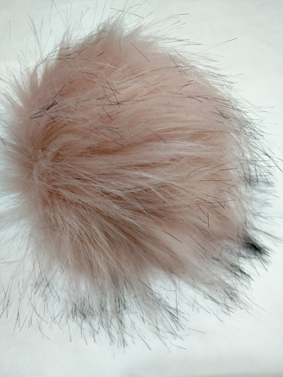 Large Faux Raccoon Snap On Pom Pom