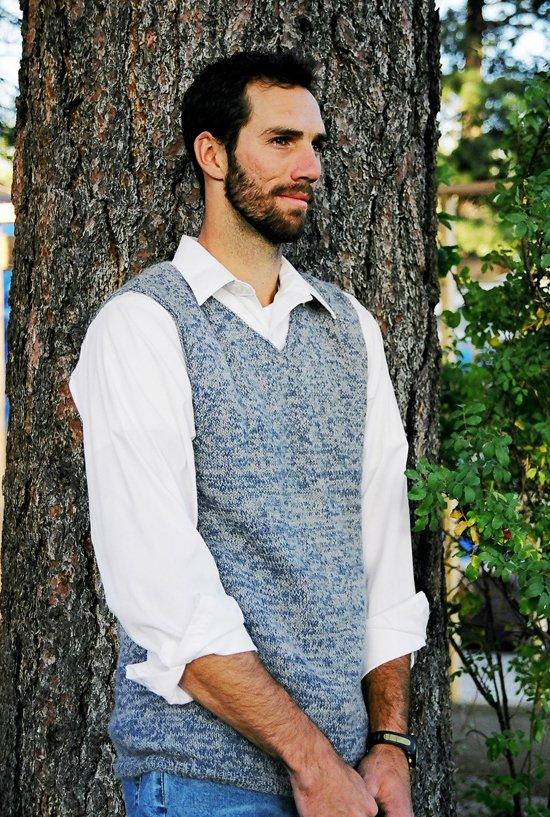 Knitting Pure Simple 215 Basic Vest For Men