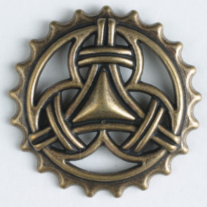 Antique Brass Gear Button 23mm