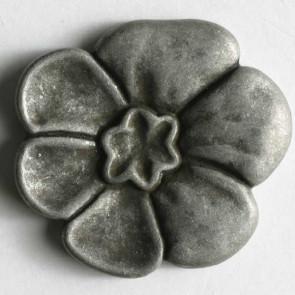 Antique Tin Flower Button 23mm