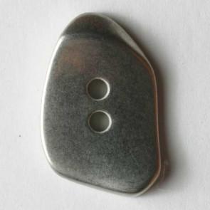 Matte Silver Asymetrical Button 23mm