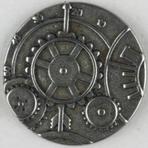 Steampunk Cogs Button 23mm