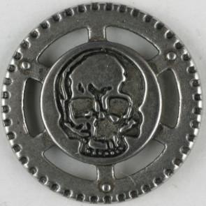 Steampunk Skull Button 23mm