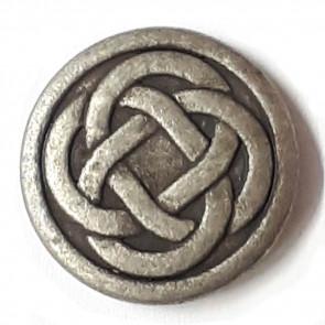 Antique Tin Celtic Knot Button 23mm