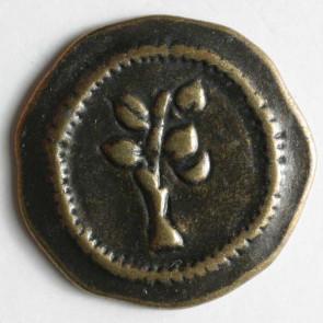 Antique Brass Tree Button 25mm
