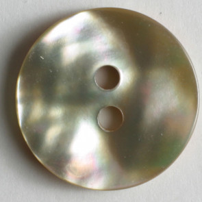 Natural Shell Mother of Pearl Button 18mm - Beige