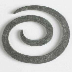 Metal Spiral Closure 50mm - Antique Tin