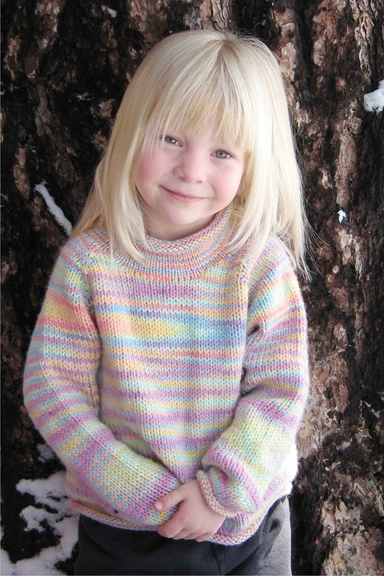c7db988db Knitting Pure   Simple 9730 Children s Neckdown Pullover
