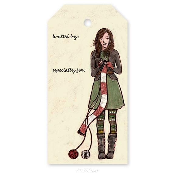 Gift Tag Pack - Winter Knitter