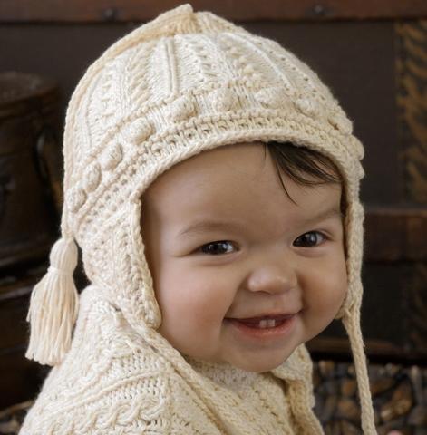 Appalachian Baby Aran Earflap Hat Kit