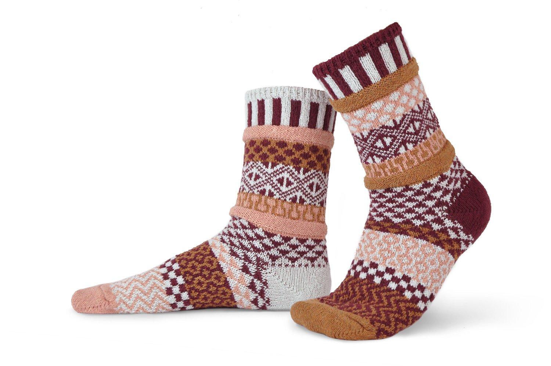 Solmate Crew Socks Amaranth