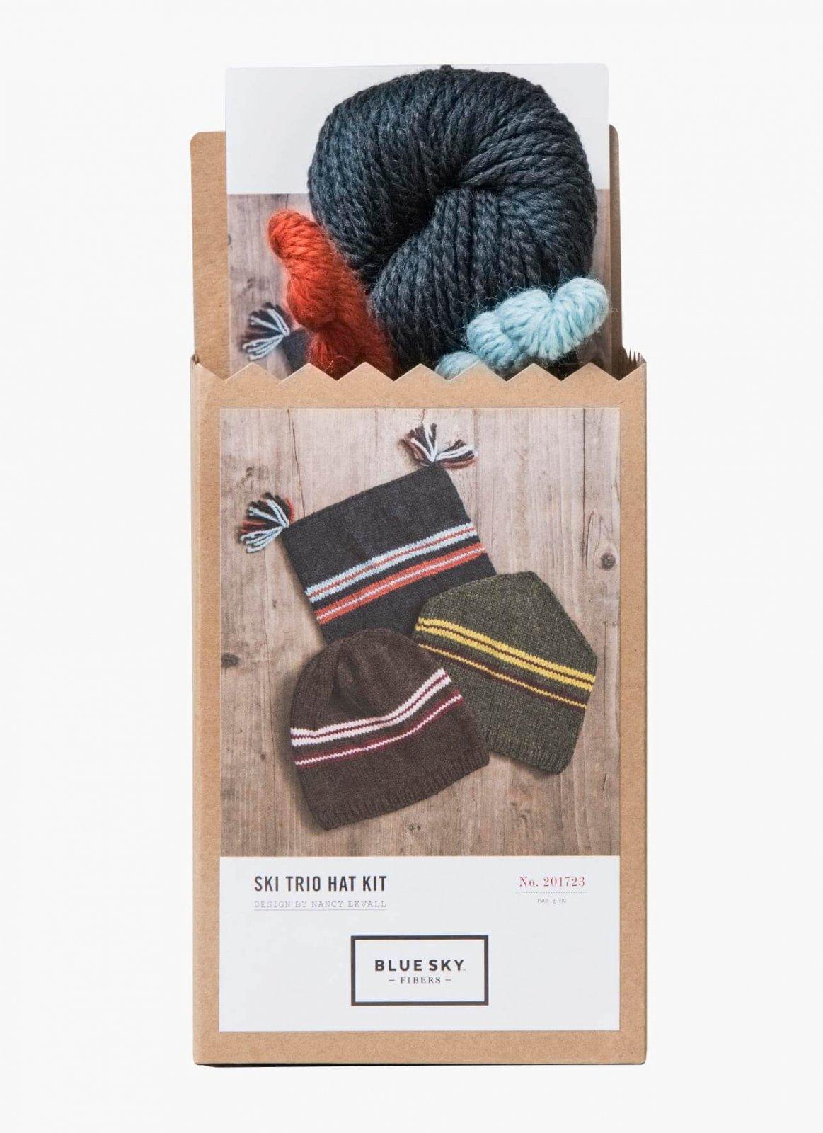 Blue Sky Fibers Ski Trio Hat Kit