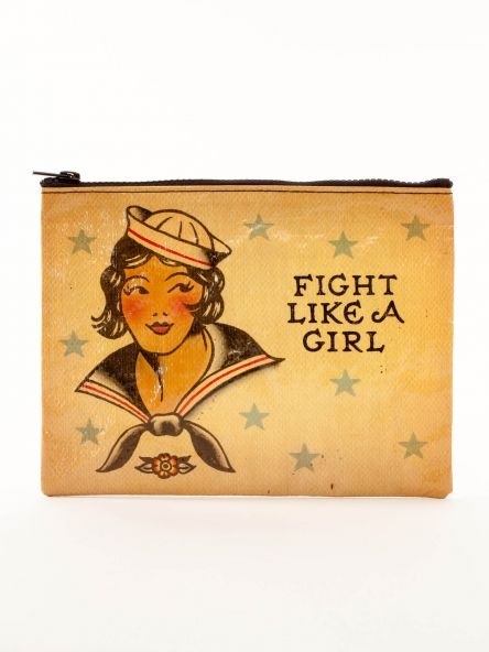 Blue Q Fight Like A Girl Zipper Pouch