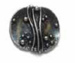 Skacel Metal Button - Antique Silver Artform 19MM